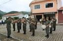 Execução do Hino Nacional pela Banda da AMAN.