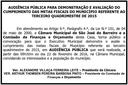 Audiência Pública dia 22/02/2016
