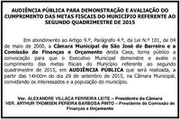 Audiência Pública dia 29/09/2015
