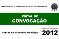 Edital de Convocação - Proc. TC 2000/026/12