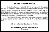 Edital de Convocação - Proc. TC 2068/026/13