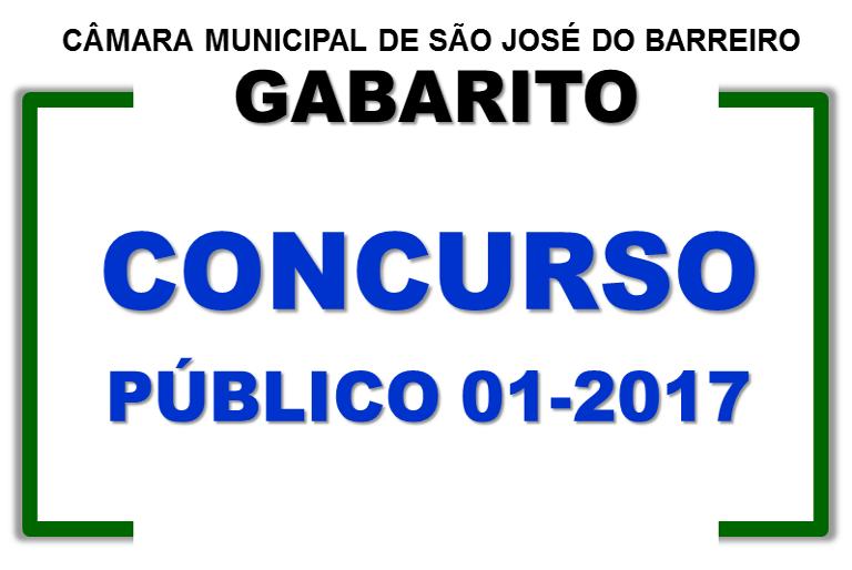 Gabarito - Concurso Público 01-2017