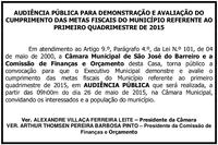 Audiência Pública dia 26/05/2015